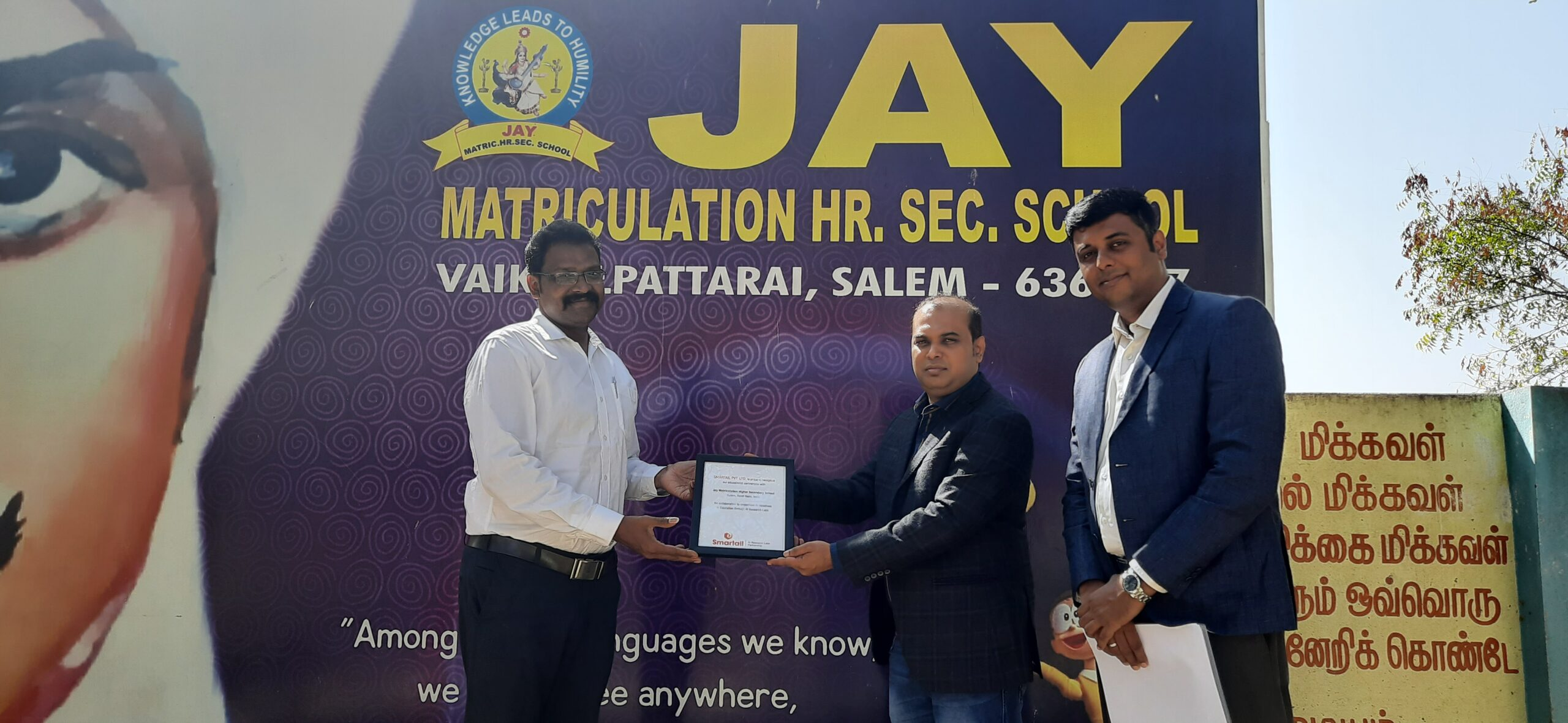 Smartail and Jay Matric School signs MoU for the setup of AI Research Lab