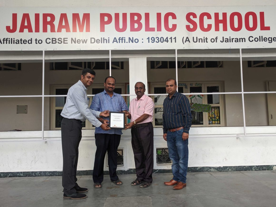 Smartail is super happy to announce its MoU with Jairam Public school ( CBSE ).